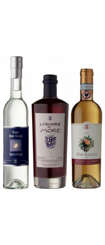 TASTING PACKAGE of GRAPPAs & BLACKBERRIES\' LIQUEUR