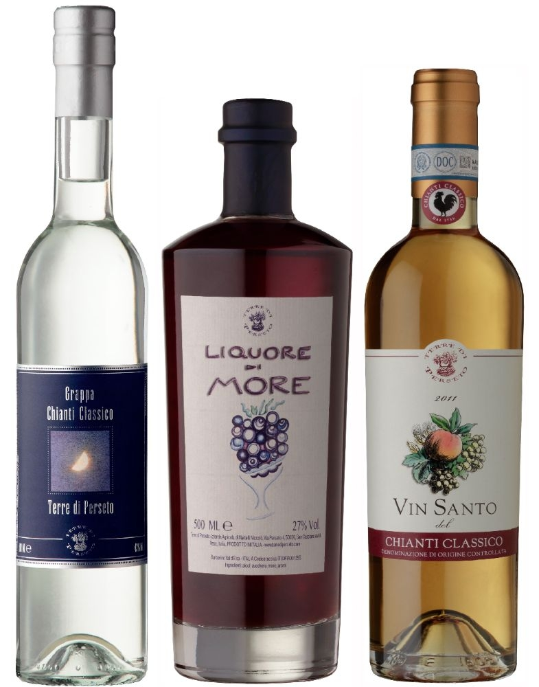 PACKAGE GRAPPA+VIN SANTO+BLACKBERRIES LIQUEUR